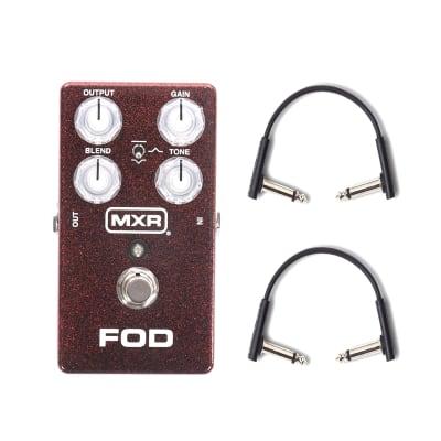 MXR M-251 FOD Drive w/(2) RockBoard Flat Patch Cables Bundle
