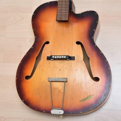 Klira Triumpator project – 1960s German Vintage Archtop Jazz Guitar / Gitarre for sale