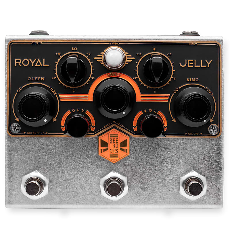 Beetronics Royal Jelly Fuzz / Overdrive Blender Effects Pedal