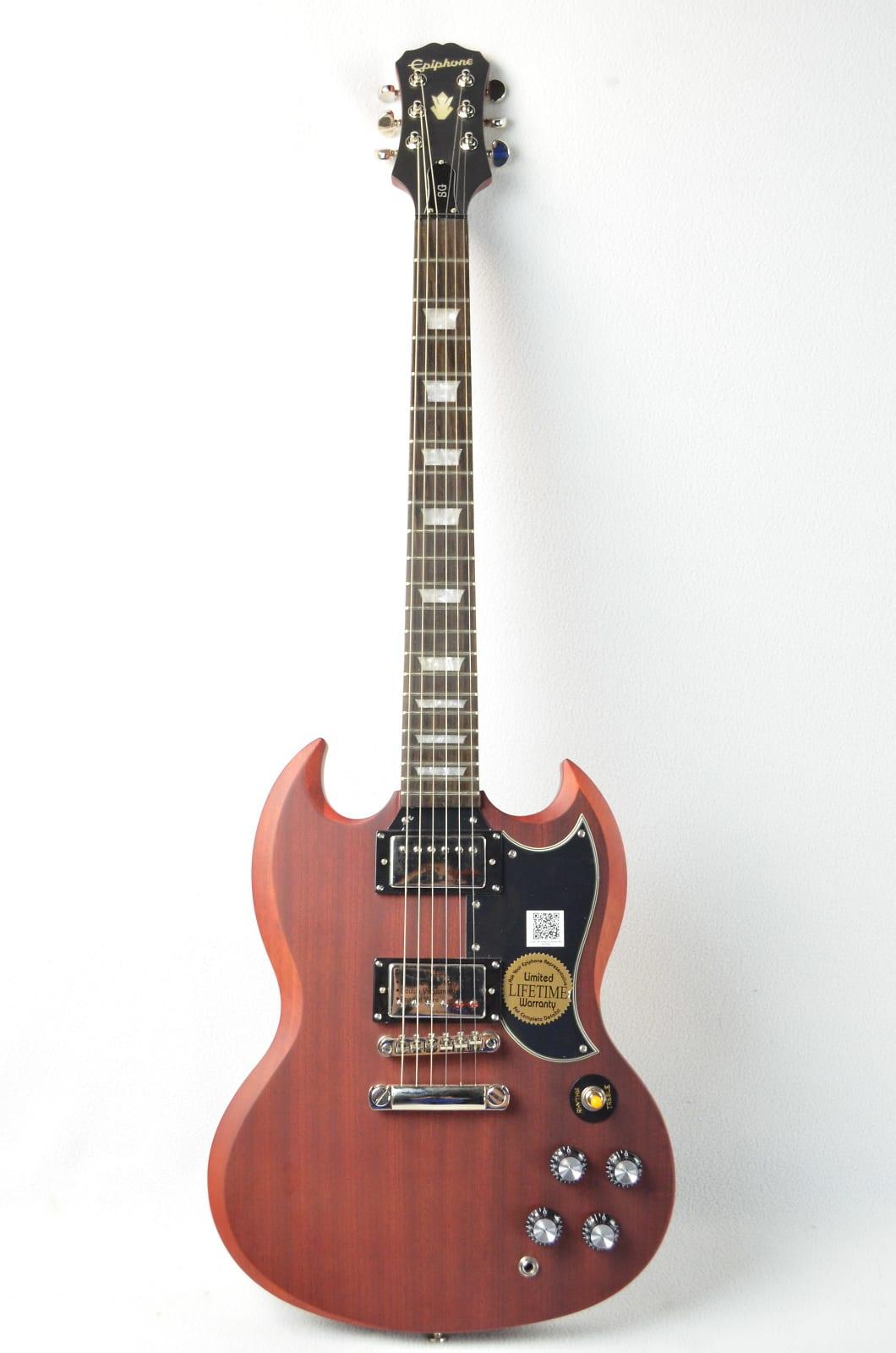 used epiphone vintage worn cherry sg g 400 electric guitar. Black Bedroom Furniture Sets. Home Design Ideas