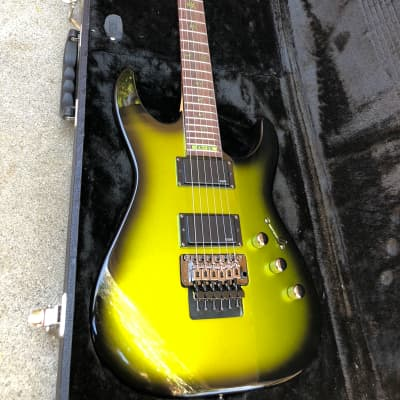 ESP LTD KH-SE Kirk Hammett Metallica Signature 2011 Metallic Greenburst 1 of 300 with hard case for sale