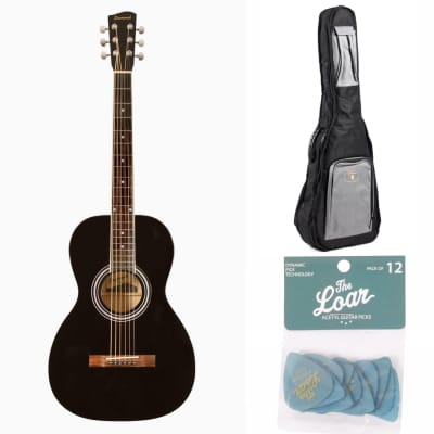 Savannah SGP-12-BK 0 Body Acoustic Guitar Black + Guardian bag + 12 picks for sale