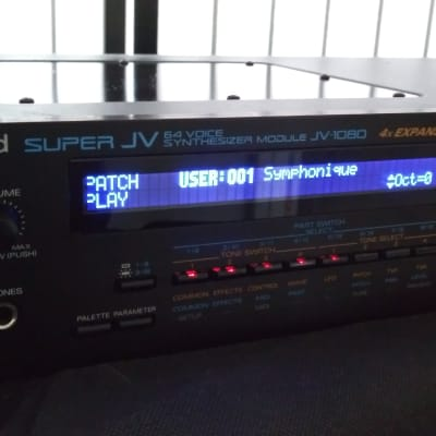 Roland JV-1080 Synthesizer Module w/ SR-JV80-13 Vocal Collection Expansion & New Led Display!