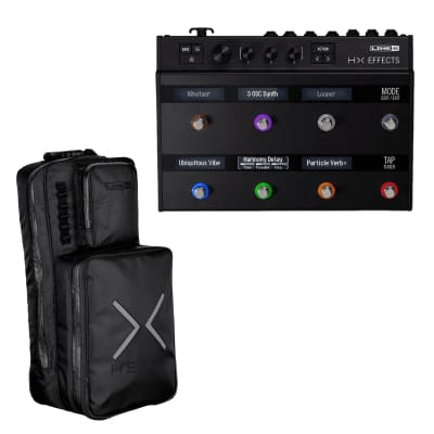 Line 6 HX Effects Multi-Effects Pedalboard for Electric Guitars and Line 6 Helix Backpack