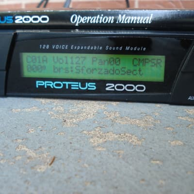 E-MU Systems Proteus 2000 with Composer ROM and manual