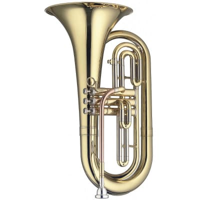 Stagg LV-MB5505 Brass Body 3 Pistons Bb Marching Baritone w/Soft Case & Mouthpiece Silver Plated