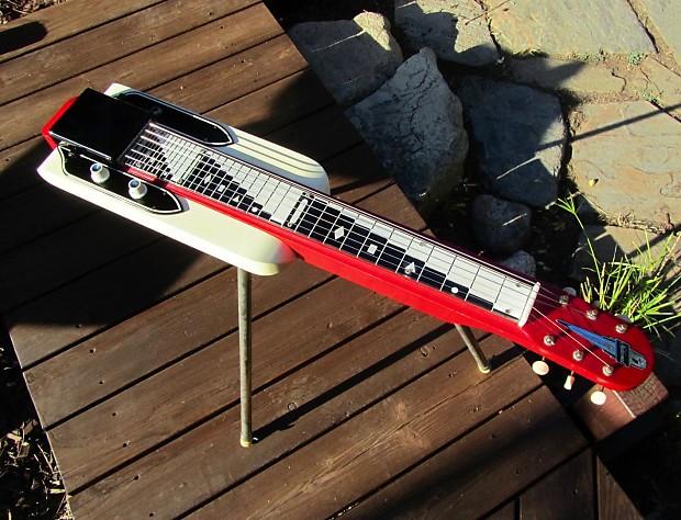 National Dynamic Consolette 1025 Lap Steel Guitar W Legs Case 1950s Vintage Valco Supro Excellent