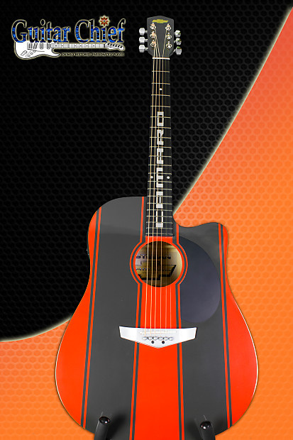Esteban Acoustic Guitar Limited Edition Chevy Camaro 209 Of 25000 Red Black