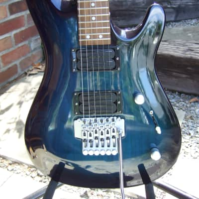 Mr. Potato Superstrat 1990's See Thru Blue Very Unique and Rare Hand Crafted for sale