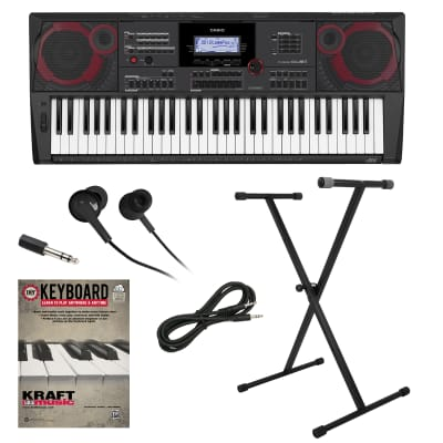 Casio CT-X5000 61-Key Portable Keyboard KEY ESSENTIALS BUNDLE