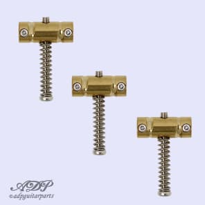 3 x Gotoh In-Tune BS Vintage Tele Brass Saddles Compensated Groove for Telecaster Bridge for sale