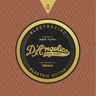 D'Angelico DAJ1252 Electrozinc Electric Guitar Strings 12-52 2-PACK