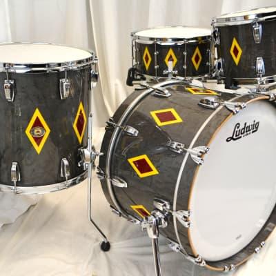 "Ludwig 22/13/16/6.5x14"" 110th anniversary Drum Set - Diamond Flash"