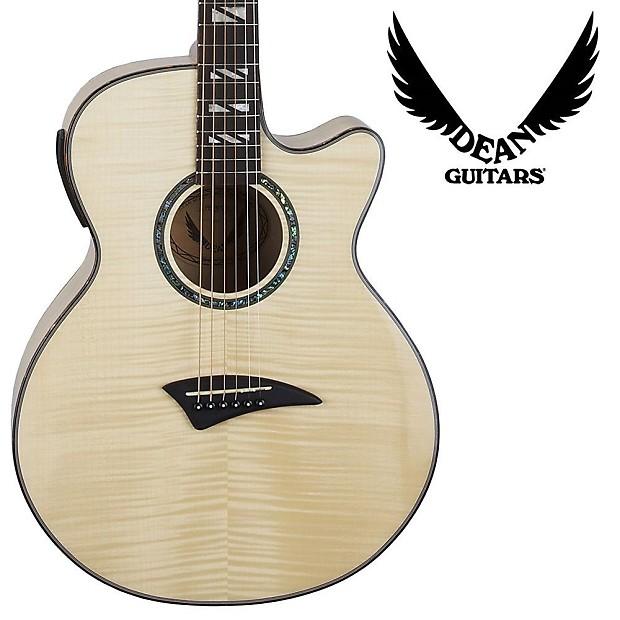 dean guitars performer acoustic electric guitar flame maple reverb. Black Bedroom Furniture Sets. Home Design Ideas