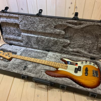 Fender American Elite Precision Bass Ash 2018 Tabacco Burst for sale