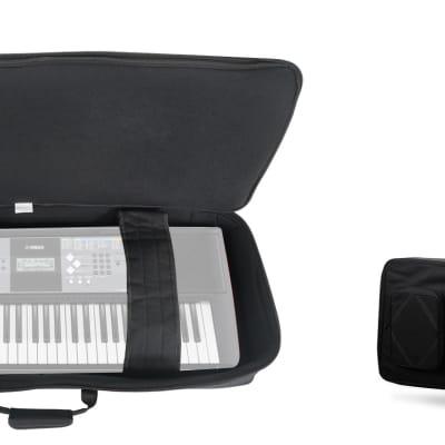 Rockville 61 Key Padded Rigid Durable Keyboard Gig Bag Case For YAMAHA PSR-F51