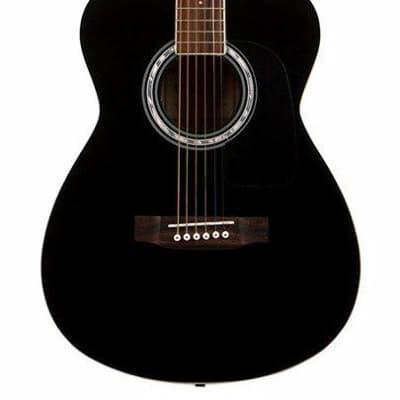Aria AF-15 Folk Body Acoustic Guitar in Black for sale