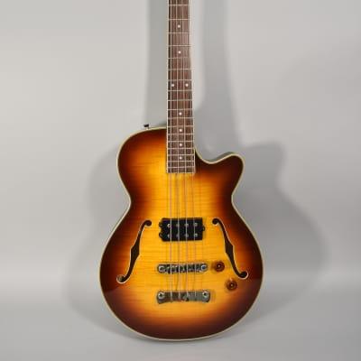 Jay Turser Semi-Hollowbody Bass Guitar Sunburst Finish Electric Guitar for sale