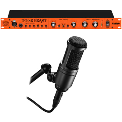Warm Audio TB12 Tone Beast Microphone Preamplifier, Audio Technica AT2020 Recording Microphone Bundle