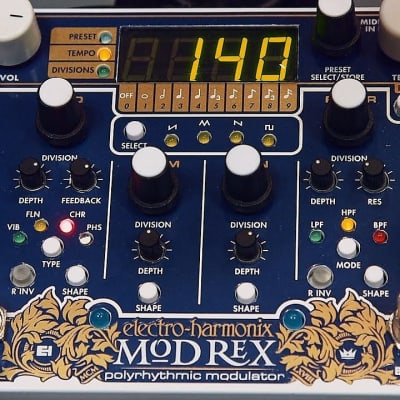 Electro-Harmonix Mod Rex Polyrhythmic Modulator  Blue/White
