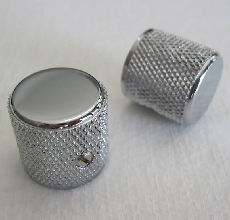 NEW Set of 2 Amp Knobs For Fender Fits USA Solid Shaft
