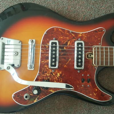 VINTAGE AUDITION 1960's SUNBURST ELECTRIC GUITAR for sale
