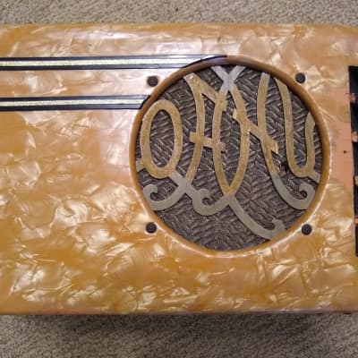 Vintage Circa 1940's Oahu Tube Guitar Amp - Rare Peach Pearloid Finish! for sale