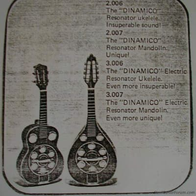 Del Vecchio Dinâmico Eletric Ukulele 1970 Brown for sale