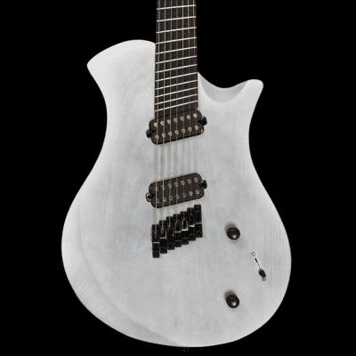 CROOKED LSG 7string GUITAR  2527 2018 Wood Grain Satin white 7string Fanned Frets guitar