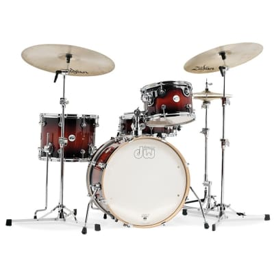 DW 4pc Design Series Frequent Flyer Drum Set Tobacco Burst