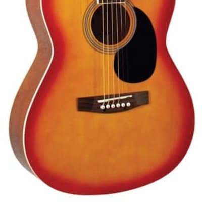 Indiana IDA-CB Dakota 39 Series Concert Shape Spruce Top 6-String Acoustic Guitar - Cherry Burst for sale