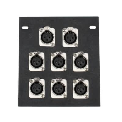 Elite Core Audio FB8 Recessed Floor Box with 8 XLR Female Connectors