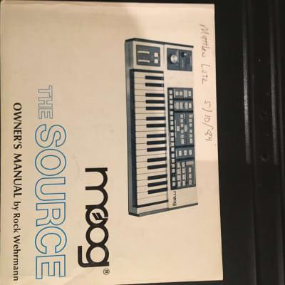 Moog Source Manual 1981-1985