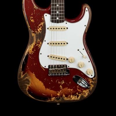 Fender Custom Shop Empire 67 Stratocaster Super Heavy Relic - Cimarron Red over 3-Color Sunburst for sale