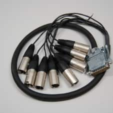 Redco 3ft DSUB-XLRM Redco TGS-8 Neutrik connectors