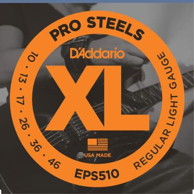 D'Addario Pro Steels Regular Light, 10-46, Guitar String Single Set EPS510
