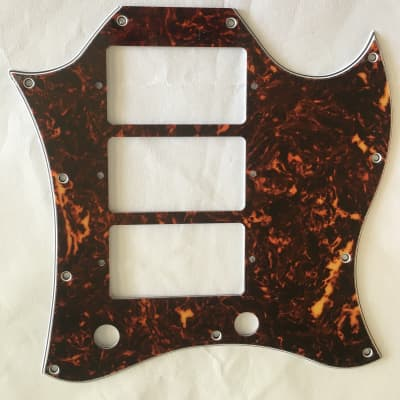 For Gibson 4-Ply SG Standard Style 3 Pickup Guitar Pickguard Scratch Plate,Brown Tortoise