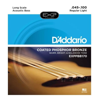 D'Addario Phosphor Bronze 45-100 Acoustic Long Scale Bass Strings