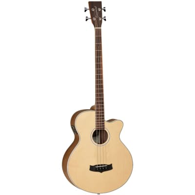 Tanglewood TDBTABBW Discovery Exotic Acoustic Bass C/E Black Walnut for sale