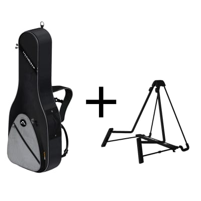 Ultimate Support BUNDLE - USS1-AG Guitar Soft Case and JS-AG75 A-Frame Guitar Stand