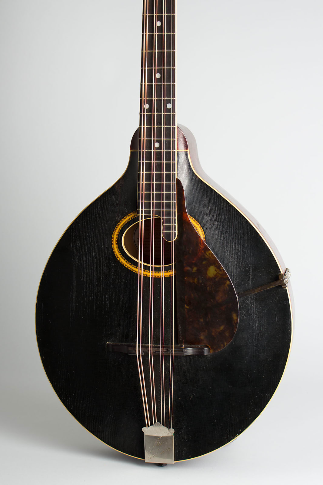 Gibson  K-2 Carved Top Mandocello (1911), ser. #12491, black hard shell case.