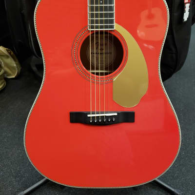 New Fender Paramount Series PM-1E Fender Special Run Fiesta Red Acoustic/Electric Guitar