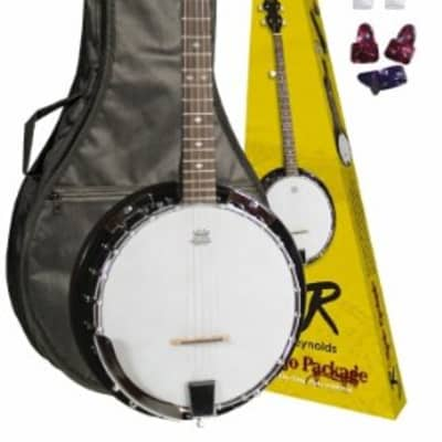 J. Reynolds JRBANPK 5-String Banjo Starter Pack w/Gig Bag, Strap, and Picks for sale