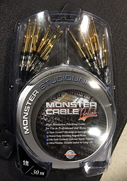 Monster Studiolink High Resolution Patchbay Cable (8 pack)