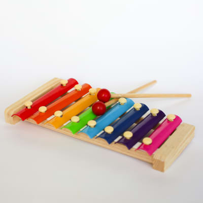 Rainbow Wooden Xylophone Toy for Baby Toddler | EdutainmenToys 2020, Montessori Musical Toys