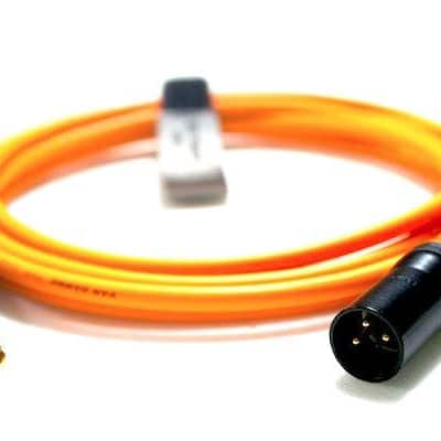 """Professional ¼"""" Mono Jack to 3-Pin XLR Male Van Damme Cable 1-10m [1m,orange]"""