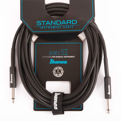 Ibanez SI20 Guitar Instrument Cable - 2 Straight Plugs Male - Male, Black - 6,10 m / 20 ft