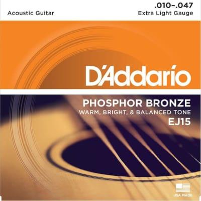 D'Addario Phosphor Bronze Acoustic Strings - 10-47