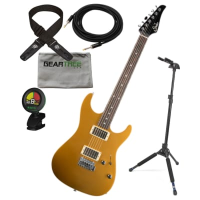 Suhr Pete Thorn Signature Standard HH Gold 510 Bridge Electric Guitar w/ Hard Case, Cloth, Tuner, Deluxe Stand, Lockit Strap, and Premium Cable