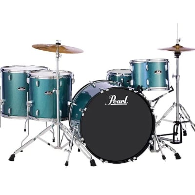 """Pearl RS525WFC Roadshow 12 / 14 / 16 / 22 / 14x6.5"""" 5pc Drum Set with Hardware, Cymbals"""